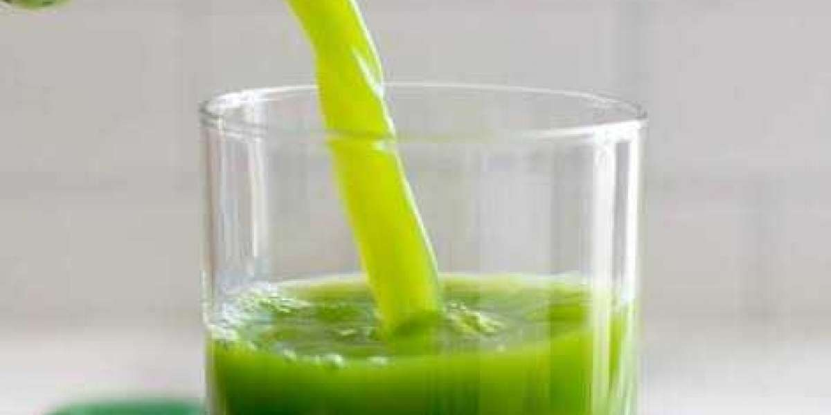 The nature gives you the green juice